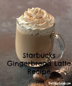 Starbucks Gingerbread Holiday Latte Recipe