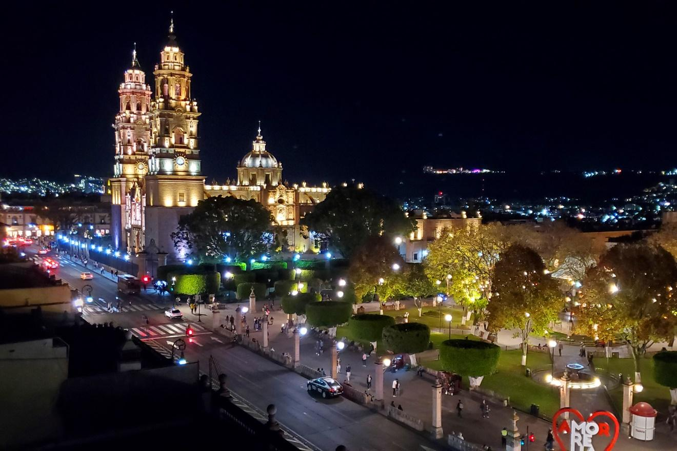 Morelia at night