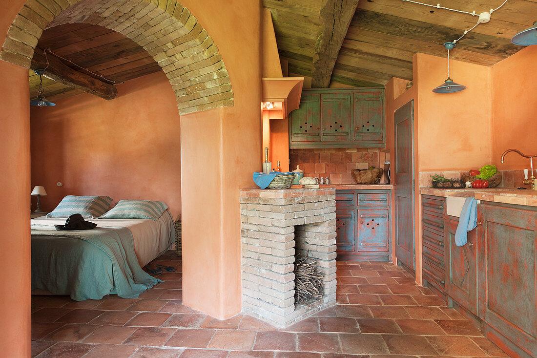 Terracotta Mediterranean Bedroom Ideas