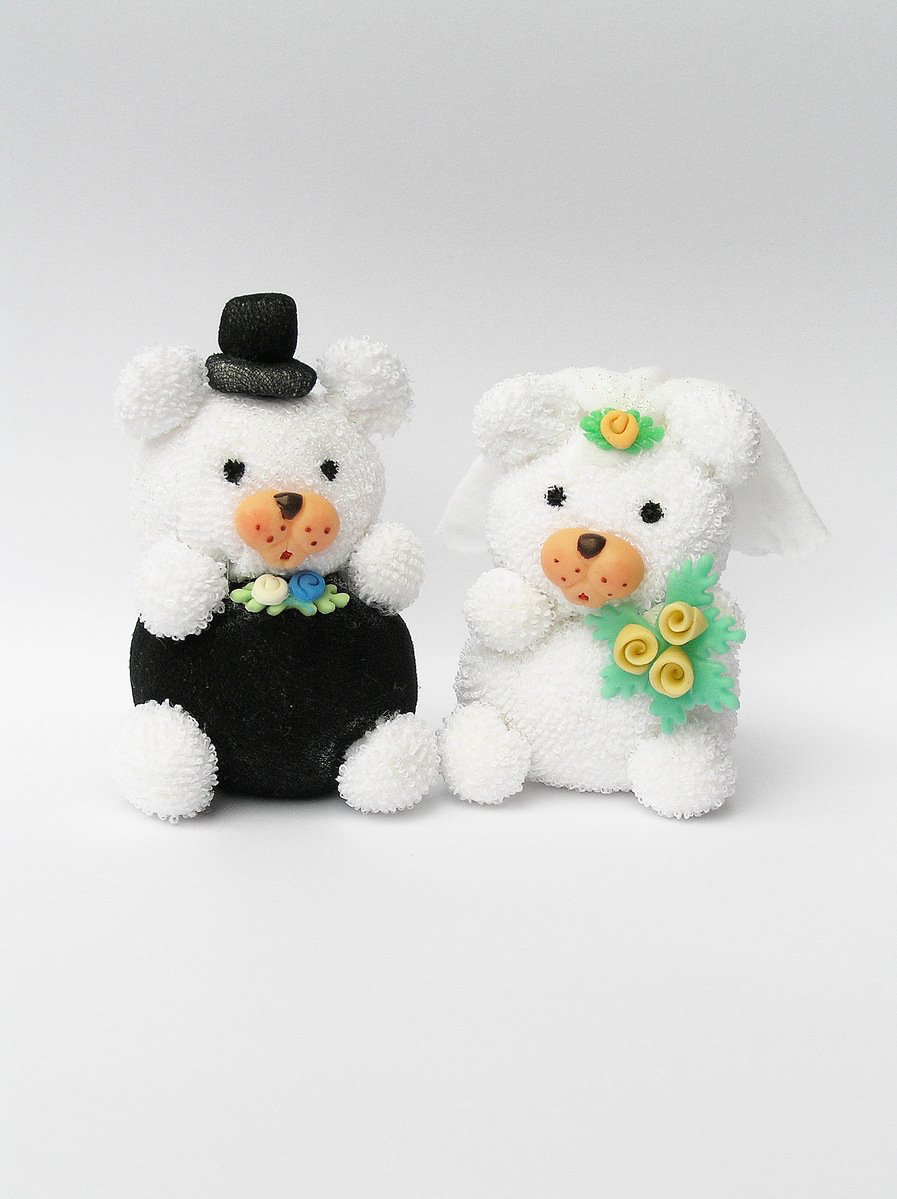 Bride and Groom bear stuffed animals
