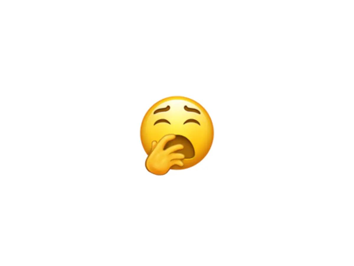 Yawn emoji (Courtesy: Emojipedia)