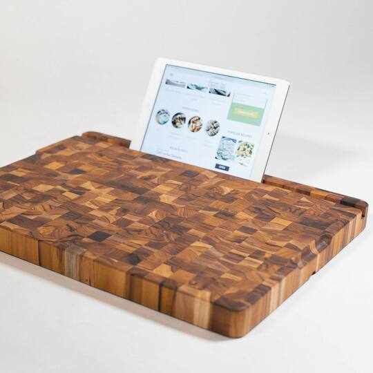 Teakhaus Cutting Board with Tablet Slot