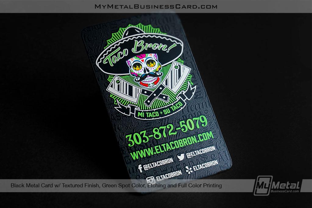 Taco Bron Metal Business Card Designs