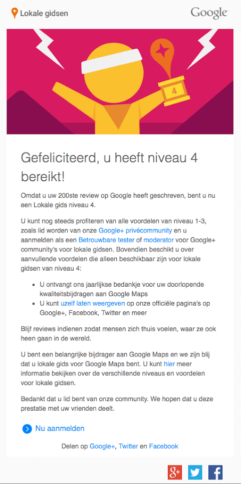 Google Lokale Gids Niveau 4