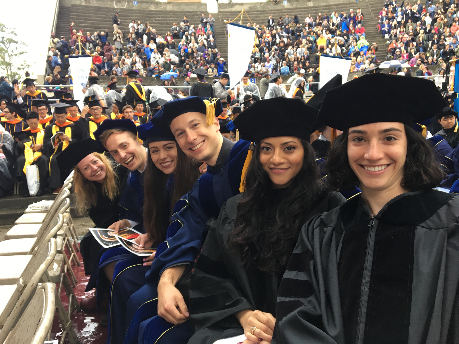 students pictured at graduation