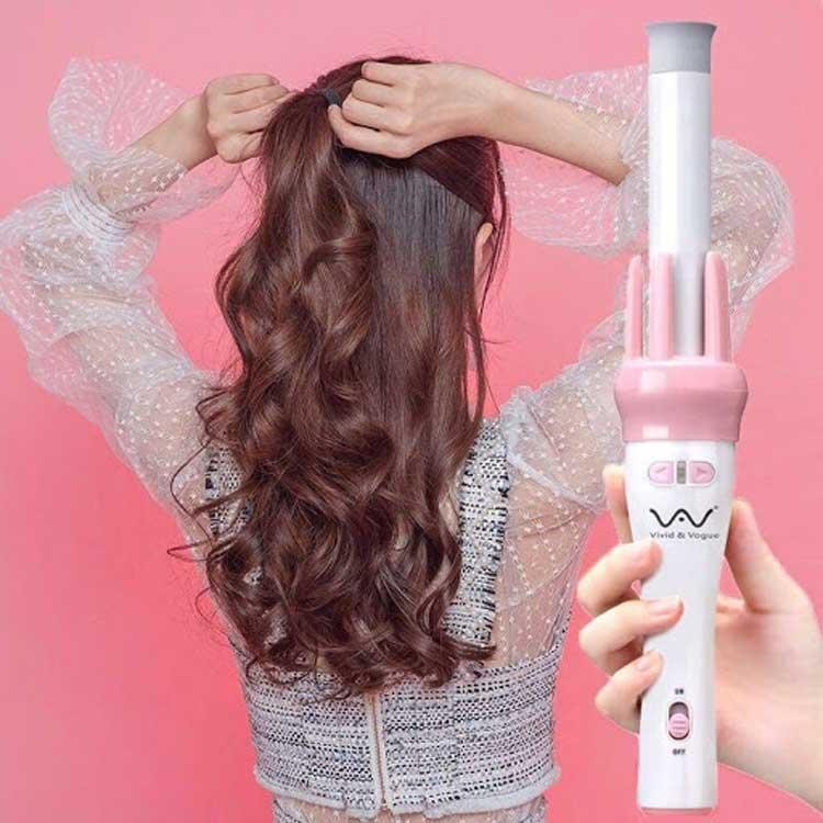 Làm tóc đẹp với mẫu máy uốn tóc tự động