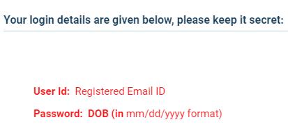 IGRUA 2021 Login Credential
