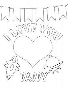 A father's love valentine coloring page