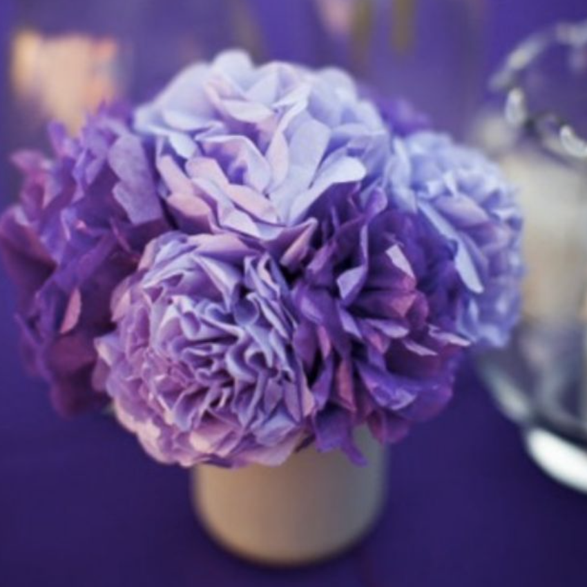 tissue paper wedding flowers