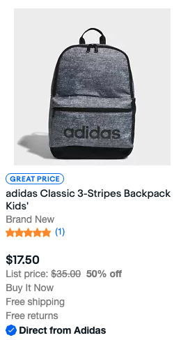 Adidas Backpack search result