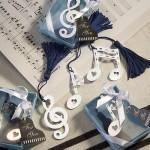 Musical Note Bookmark Favors from Hotref.com
