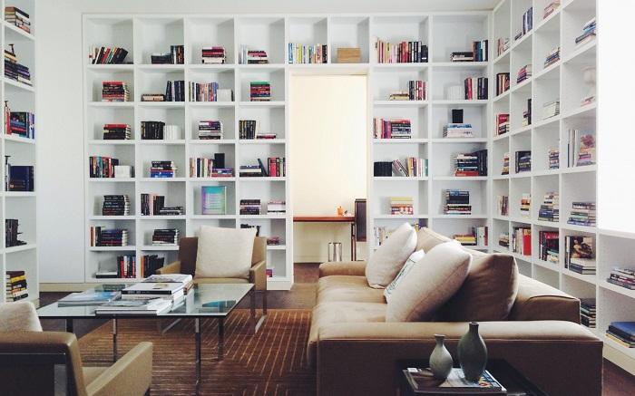Thiết kế phòng đọc sách với diện tích lớn
