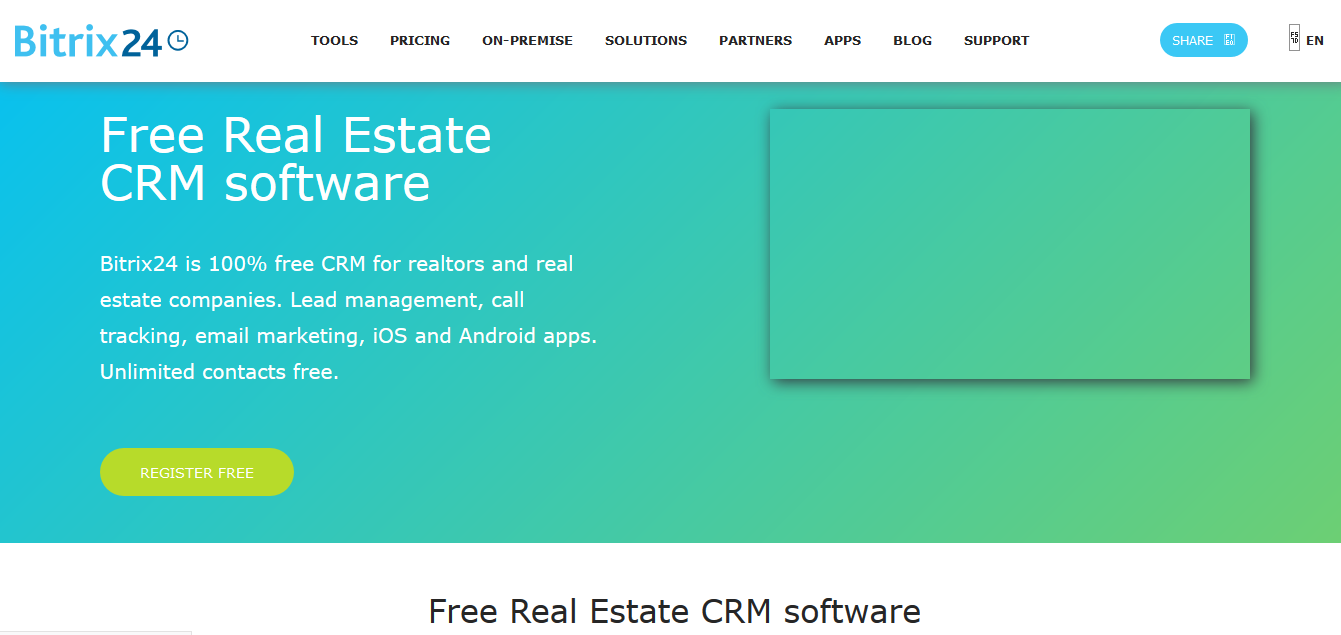 Bitrix24 free crm for real estate agents