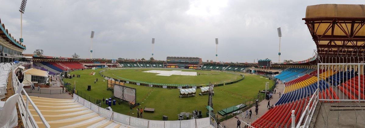 View of Gaddafi Stadium