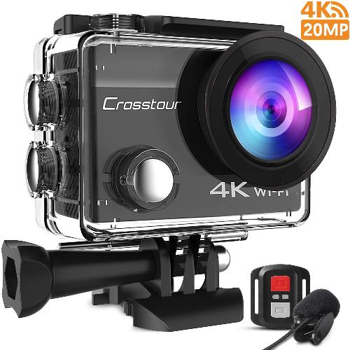Crosstour 4K 20MP Action Cam WIFI - speciale tesori nascosti
