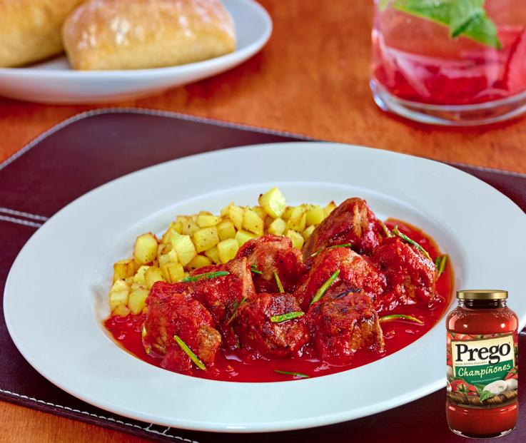 cómo se usa la salsa prego carne de res