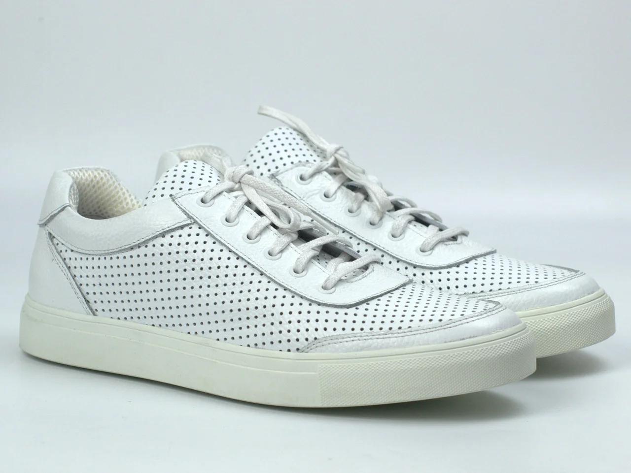Мужские летние кроссовки белые кожаные кеды обувь больших размеров Rosso Avangard Ada White PerfLeath TPR BS Подробнее: