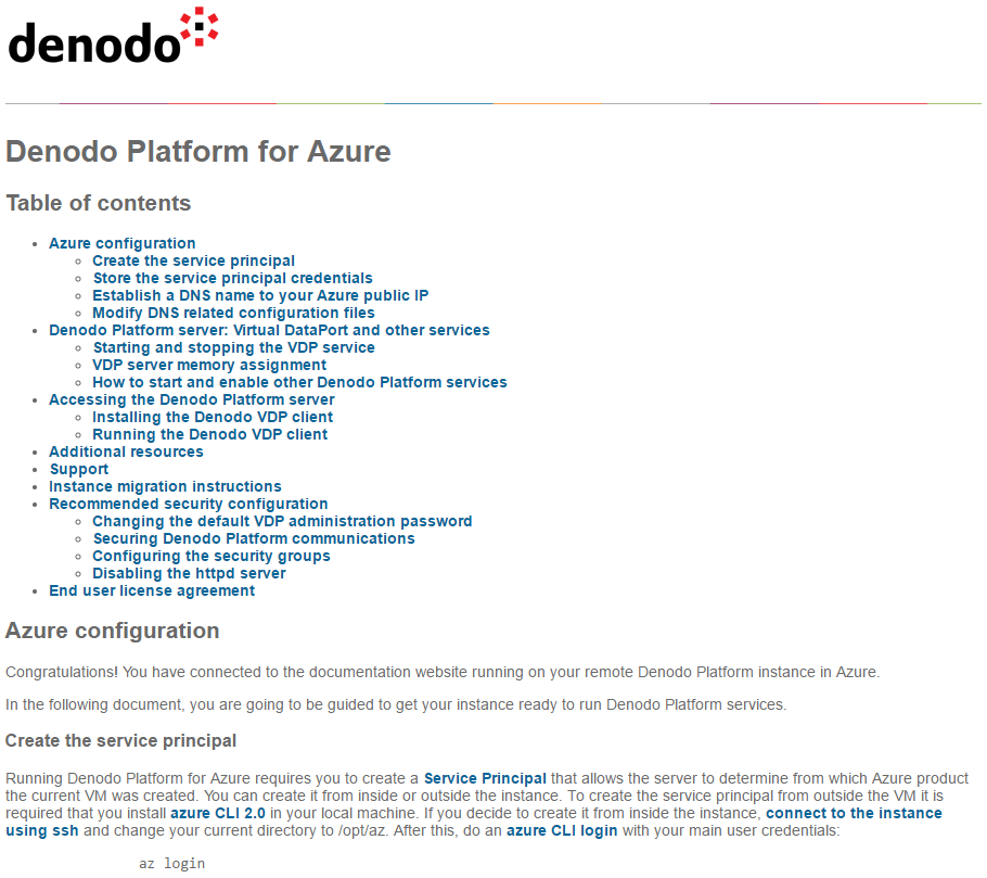 Denodo Platform for Azure 7 0 - Quick Start Guide
