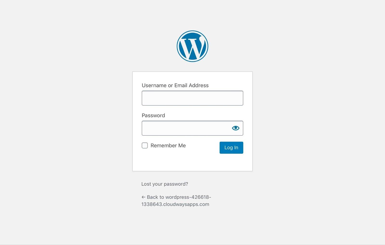 login to your wordpress site