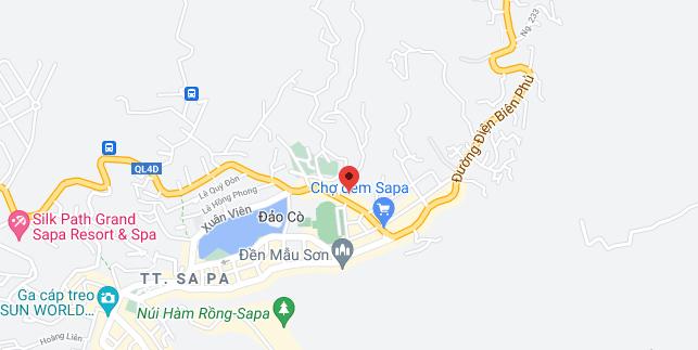 Địa điểm đón/trả khách tại Sapa