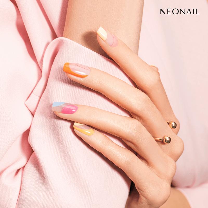 Lakiery hybrydowe NEONAIL wstylizacji Velvet Touch, paznokcie hybrydowe pomalowane napastelowe kolory