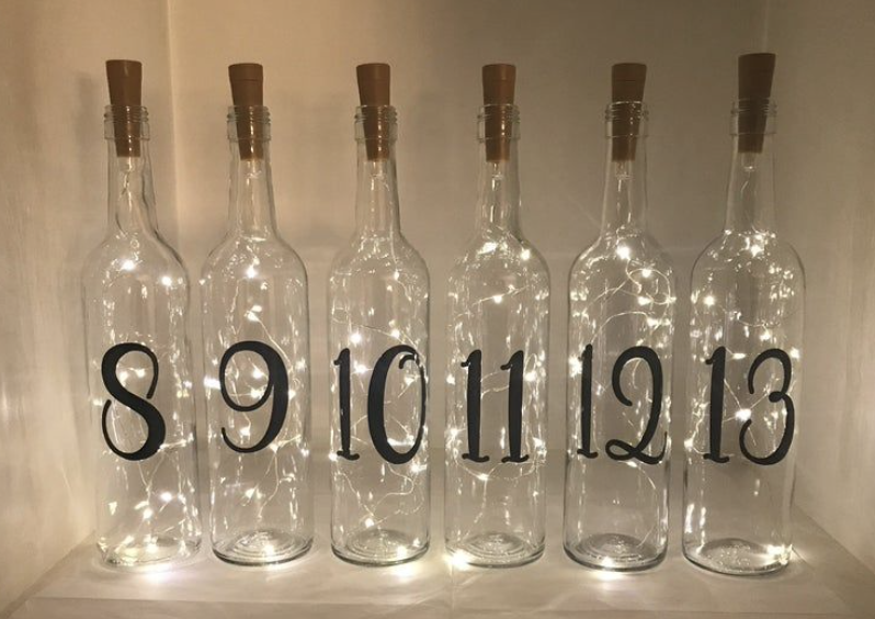 twinkly numbered bottles