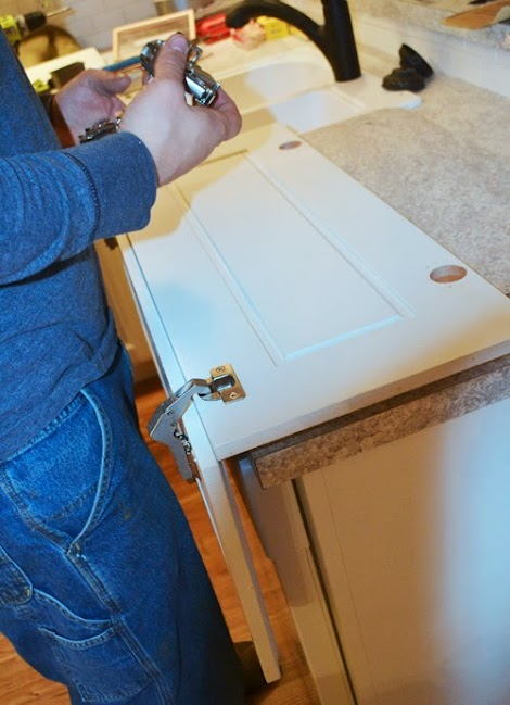 Installing Pie Cut Hinged Doors For Lazy Susan Corner Cabinet