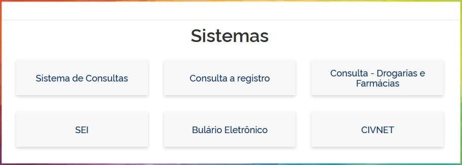 sistemas para consultar registro na anvisa