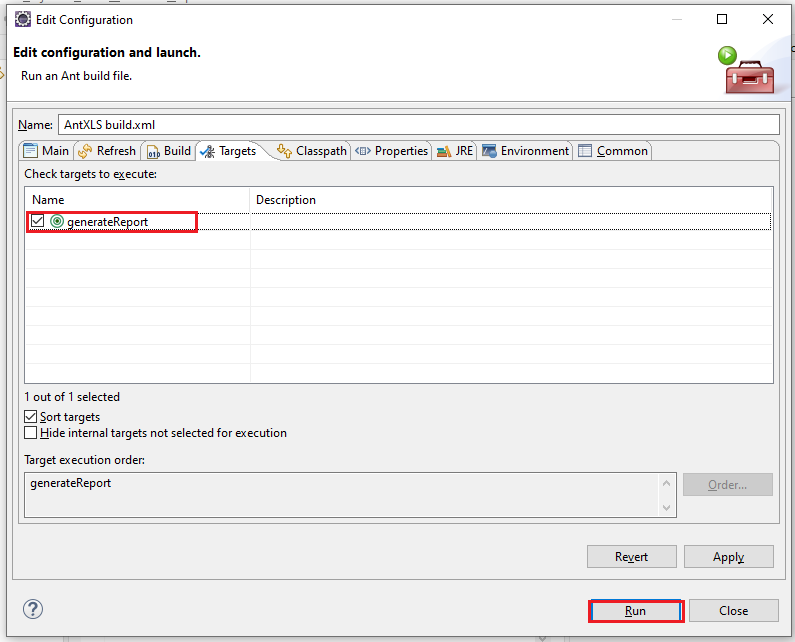 XSLT Report in Selenium Webdriver