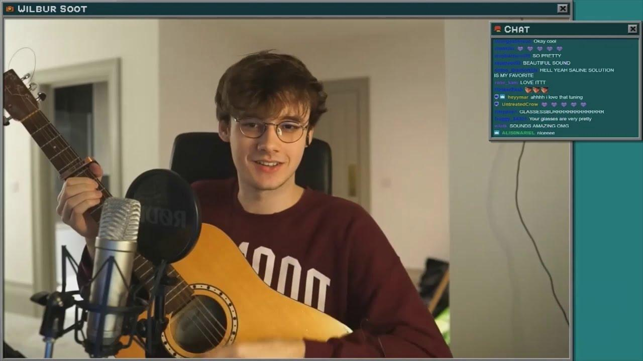 Wilbur soot playing a song on his guitar on stream - YouTube