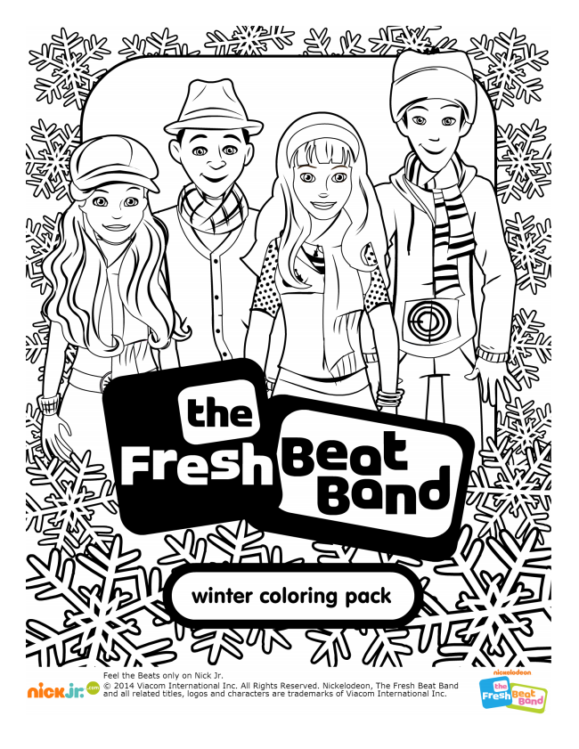 Socal Kids Outdoor Adventures Fresh Beat Band Is Coming Fresh Beat Band Coloring Pages