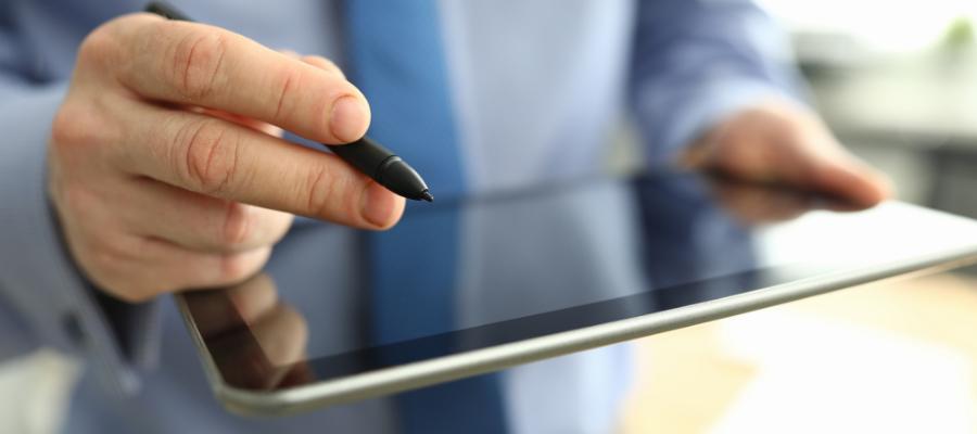 Visitor management system tablet