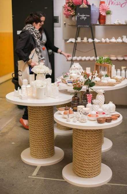 spool table DIY Retail Display Ideas