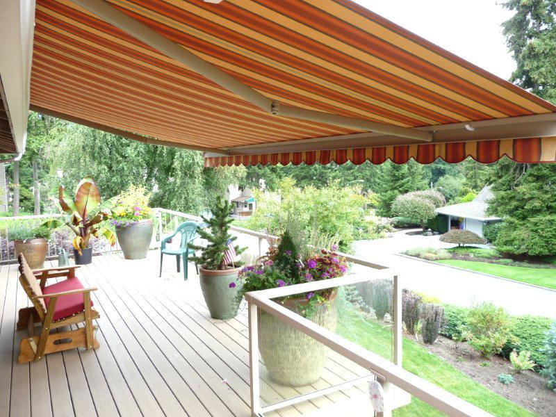 retractable awning fabric picture