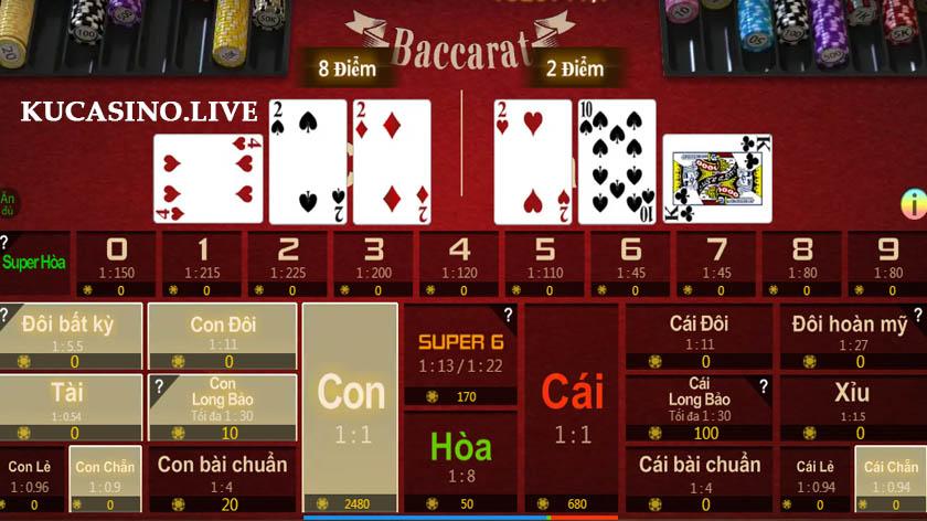 Hướng dẫn chơi Baccarat 3D trên KU Casino mới nhất