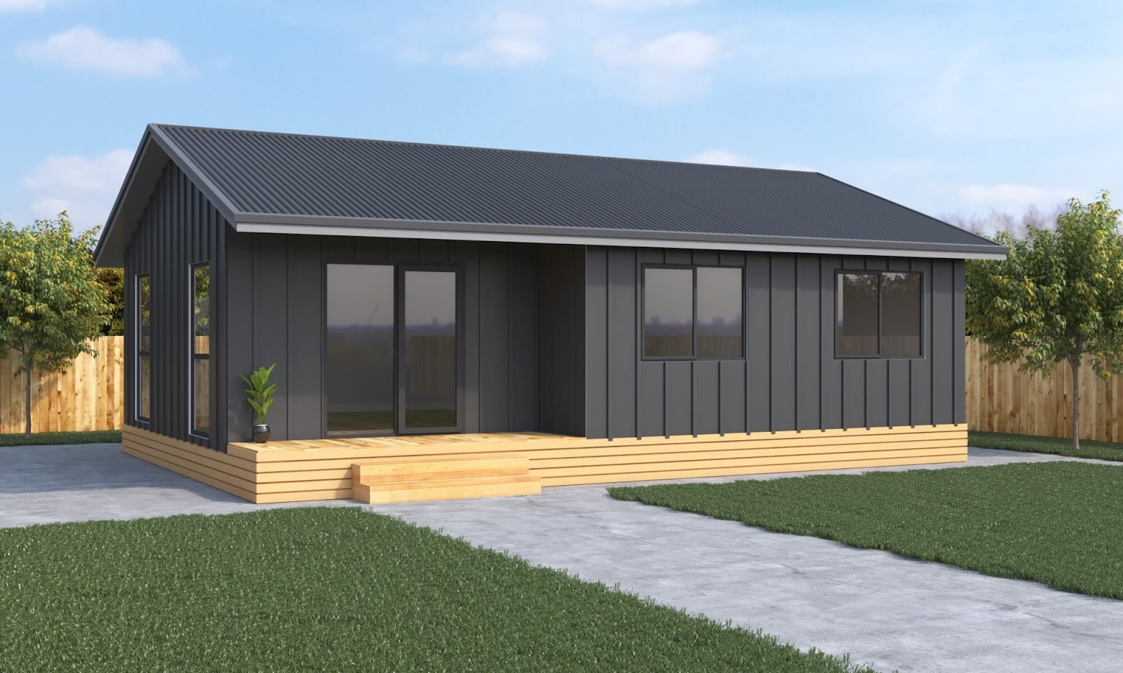 2 bedroom prefab home the Oxford