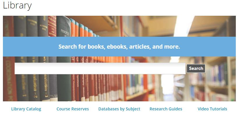 This is the box in the middle of the library home page. Below it, please click on Databases by Subject.