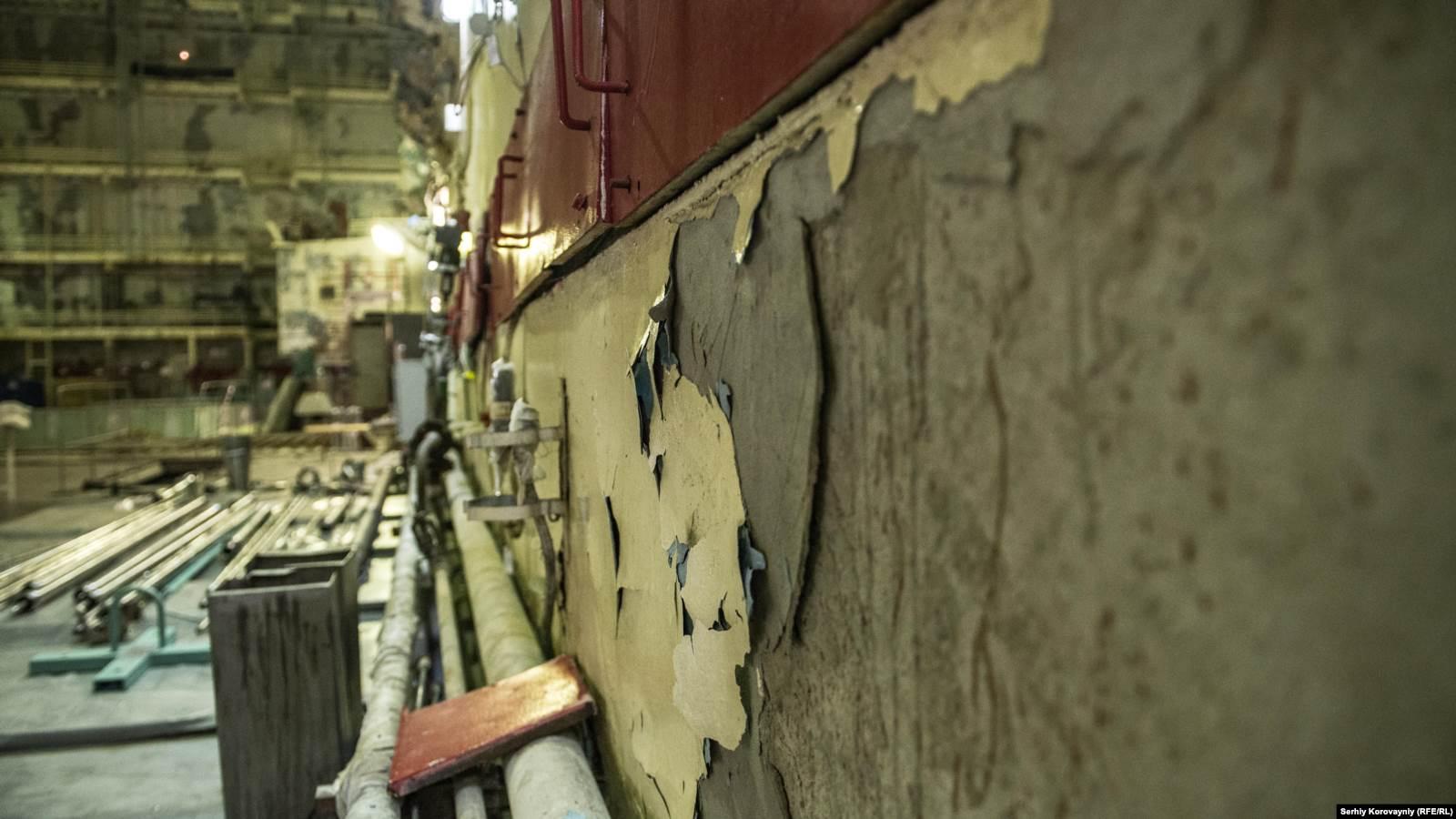 Реакторный зал первого энергоблока Чернобыльской АЭС