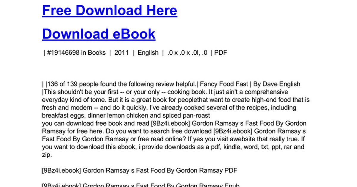 Gordon ramsay s fast foodc google docs fandeluxe PDF