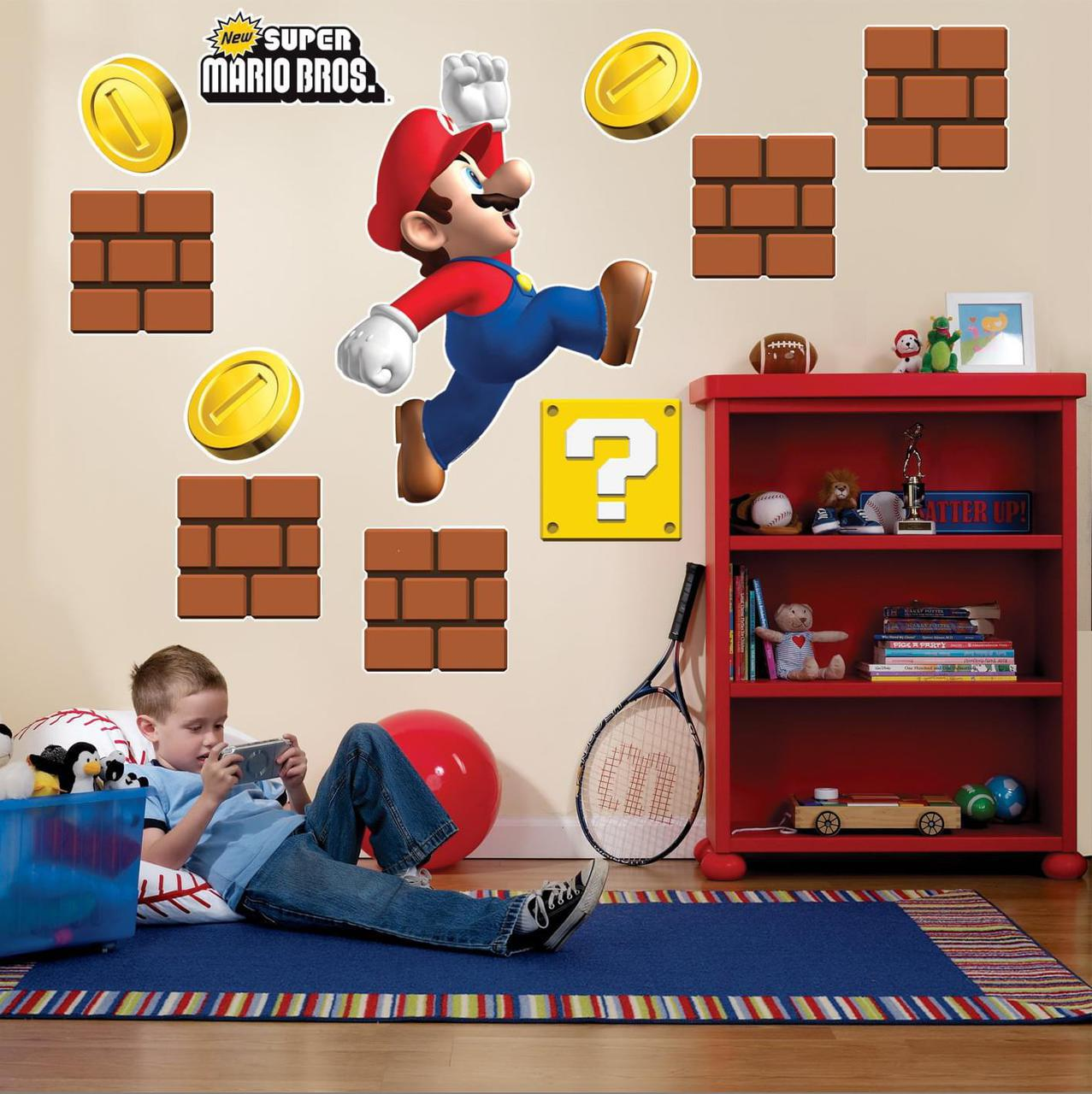 Super Mario wall decal kit