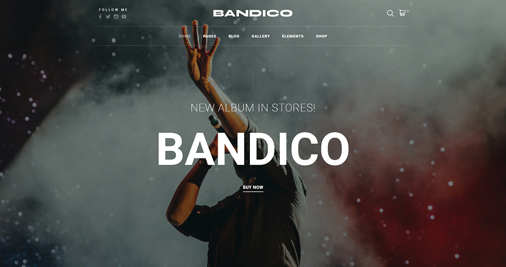 Best HTML5 eCommerce Template: Bandico HTML5 Music and Band Template