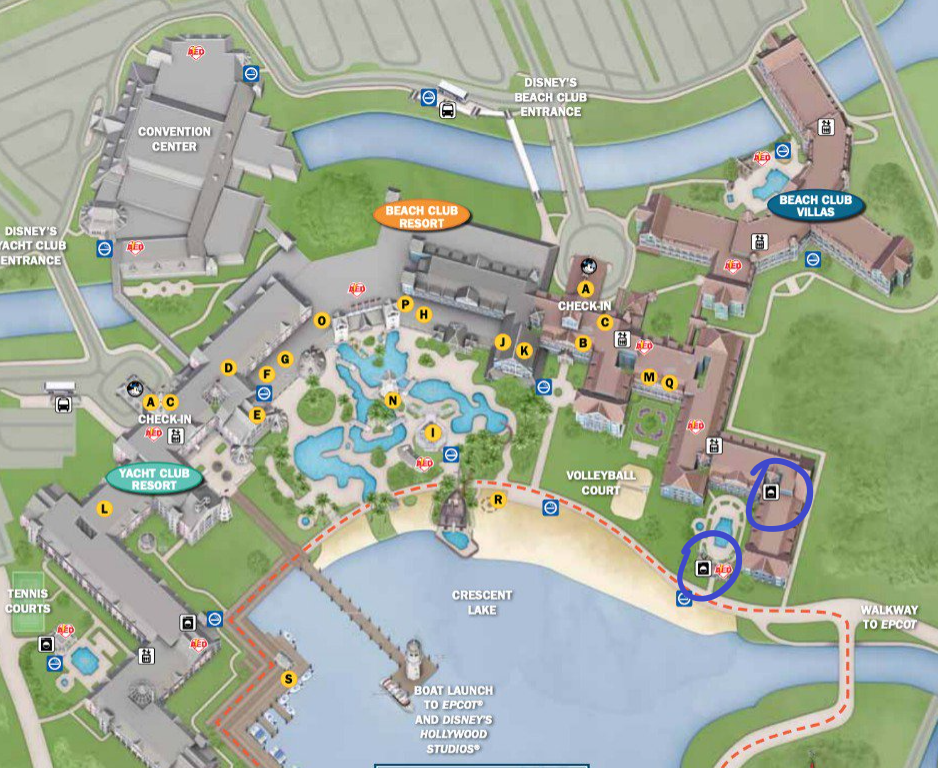 Disney's Beach Club Laundry Locations