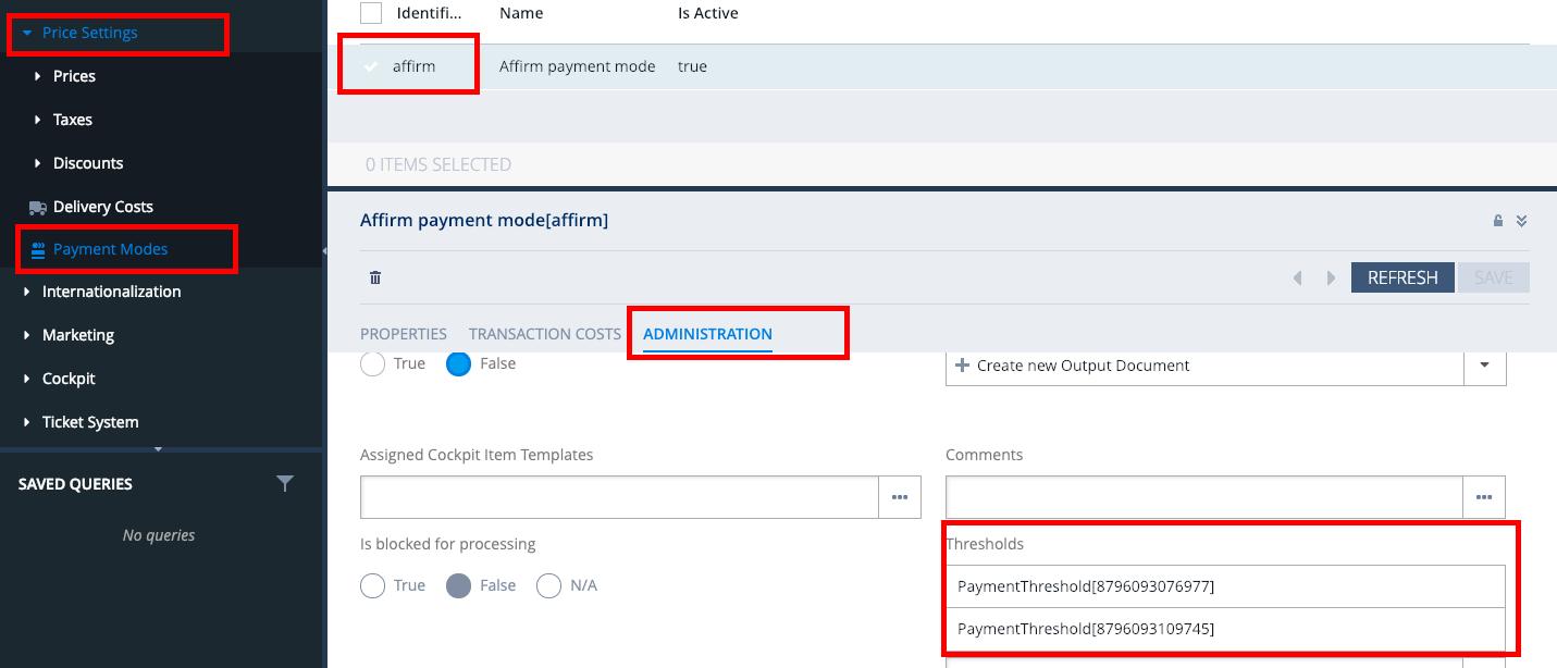 Hybris Integration - Affirm Merchant Help