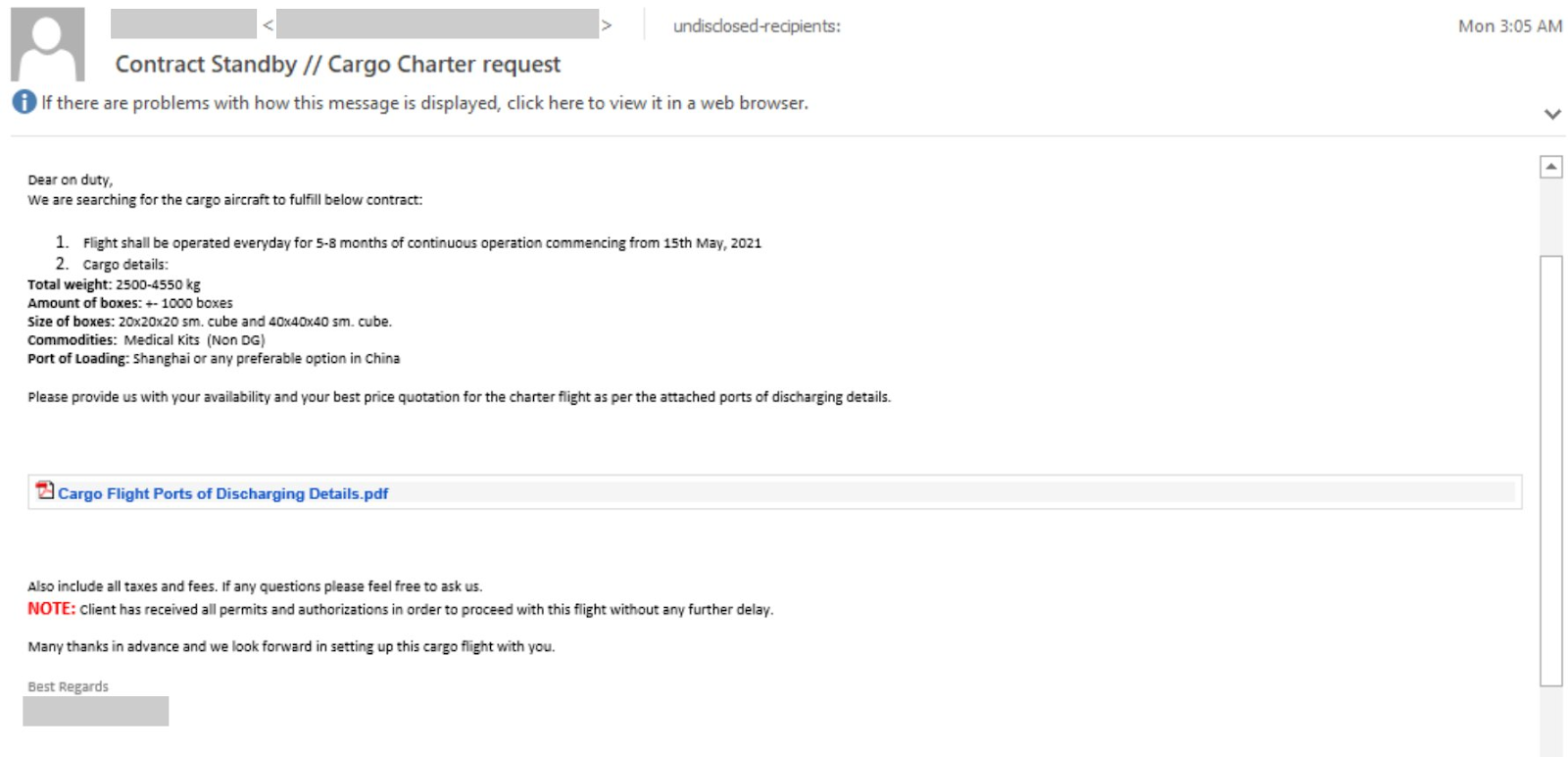 Microsoft warns Aviation sector about malware campaign 2