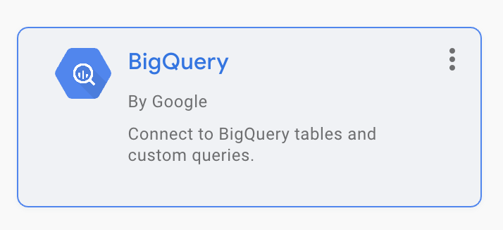 Data Studio BigQuery connector