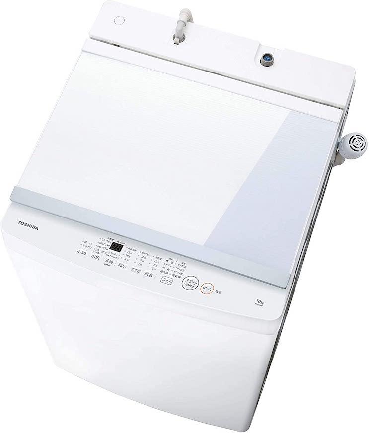 東芝 洗濯機 10kg 大容量 まとめ洗い