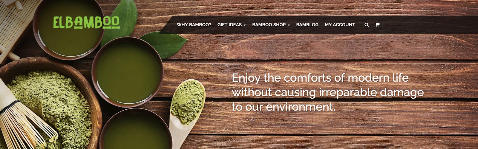 ElBamboo homepage banner - Influencer Collab Opps