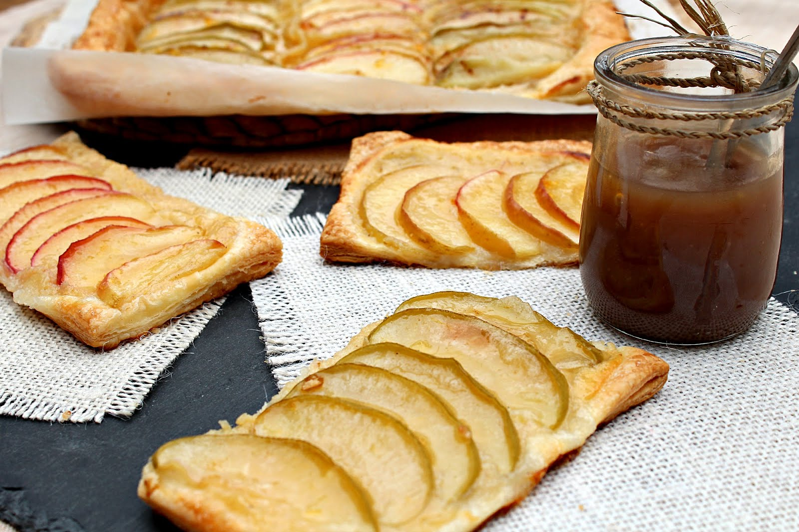 Puff Pastry Apple Tarts Glazed With Honey Recipes — Dishmaps