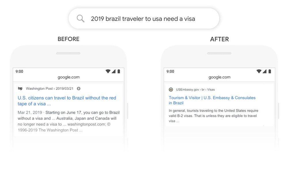 Google BERT aplicado na busca do Google