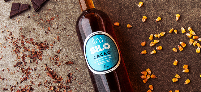 A Bottle of Delicious Cacao Vodka